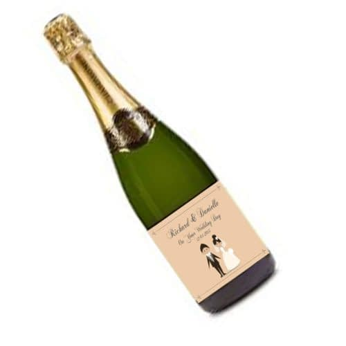 Personalised Champagne Bottle Label