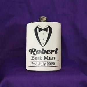 personalised gift flask men